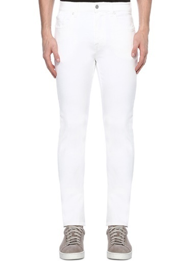 7 For All Mankind Jean Pantolon Beyaz